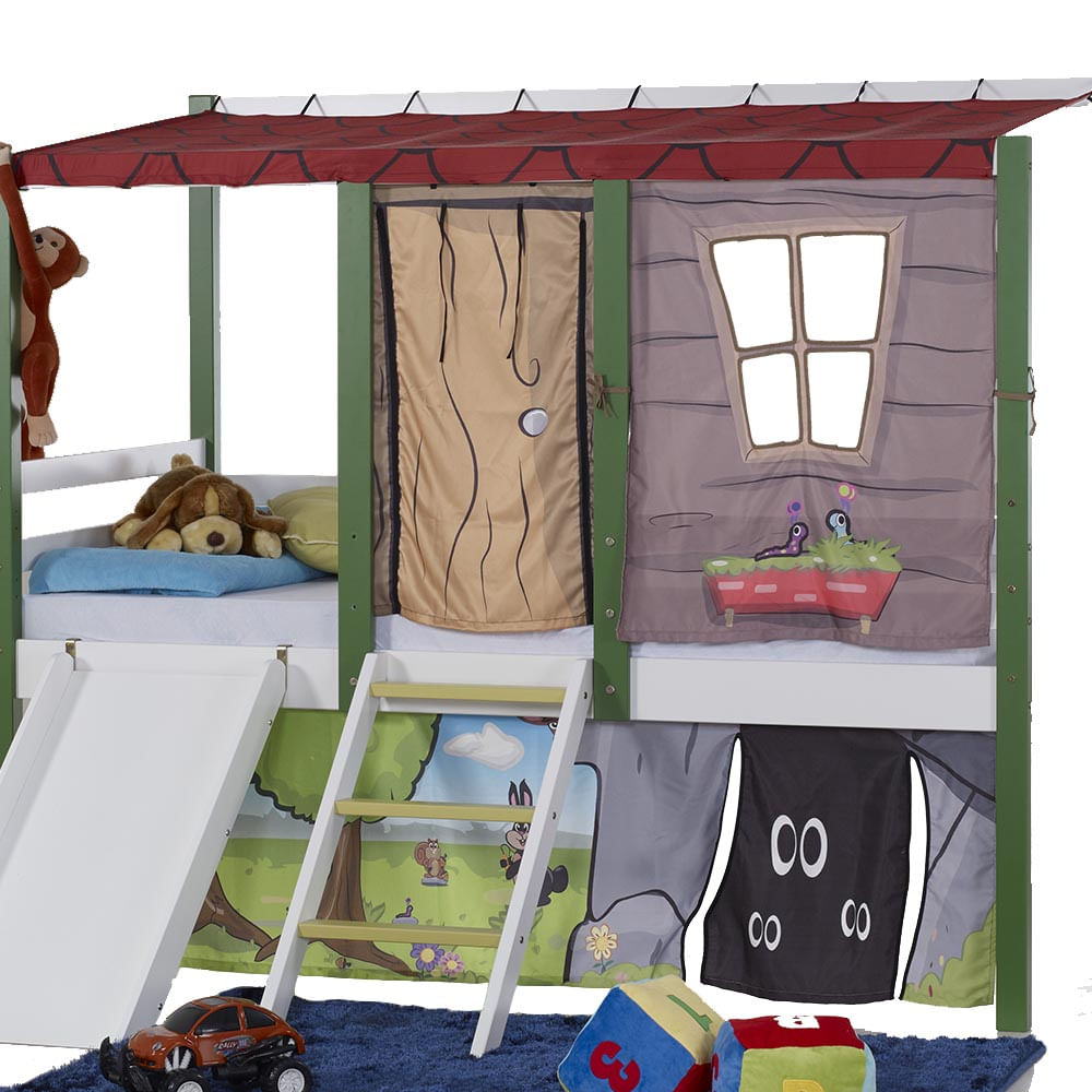 790ad02672 Cortina Tenda Casa da Árvore para Cama Camping - CasaTema