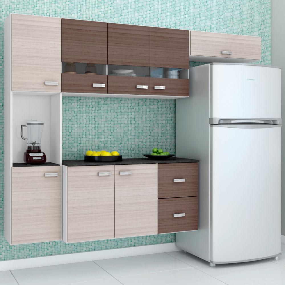 Cozinha Compacta Julia Suspensa Com Balc O 2 Gavetas Am Ndoa
