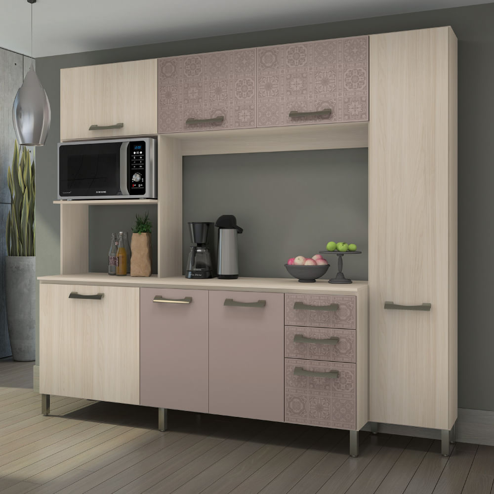 Kit Cozinha Compacta 7 Portas 3 Gavetas E780 Kappesberg Am Ndoa