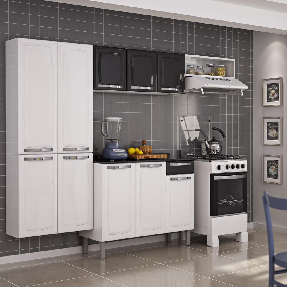 Cozinha Compacta Rose Com Balc O Itatiaia Preto Casatema