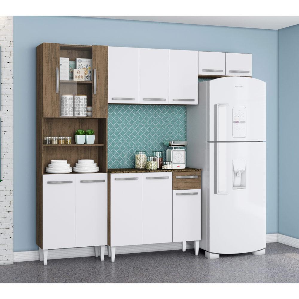 Cozinha Compacta Sheila Com Balc O Paneleiro E A Reos Dakota