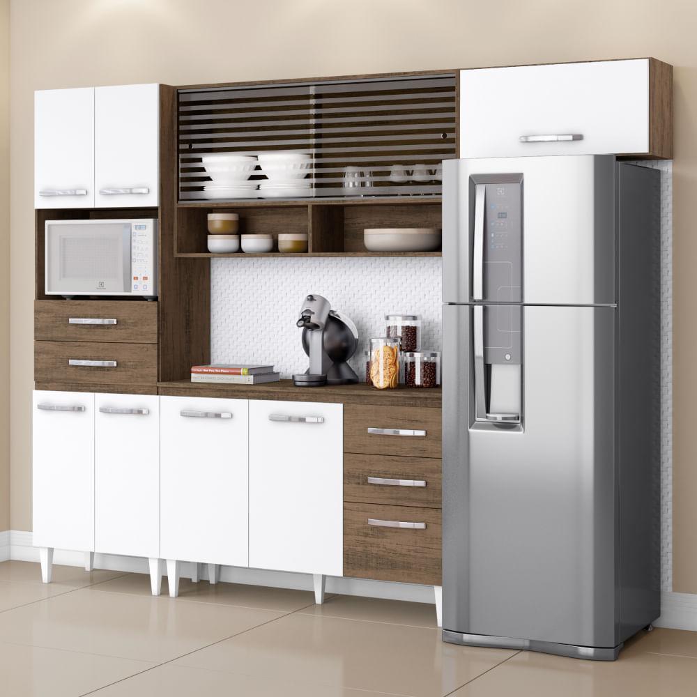 Cozinha Compacta Michele Com Paneleiro A Reos E Balc O Dakota