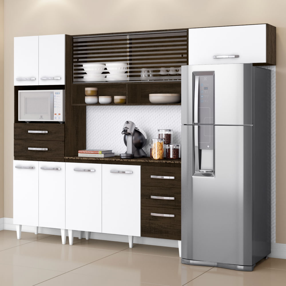 Cozinha Compacta Michele Com Paneleiro A Reos E Balc O Ravello
