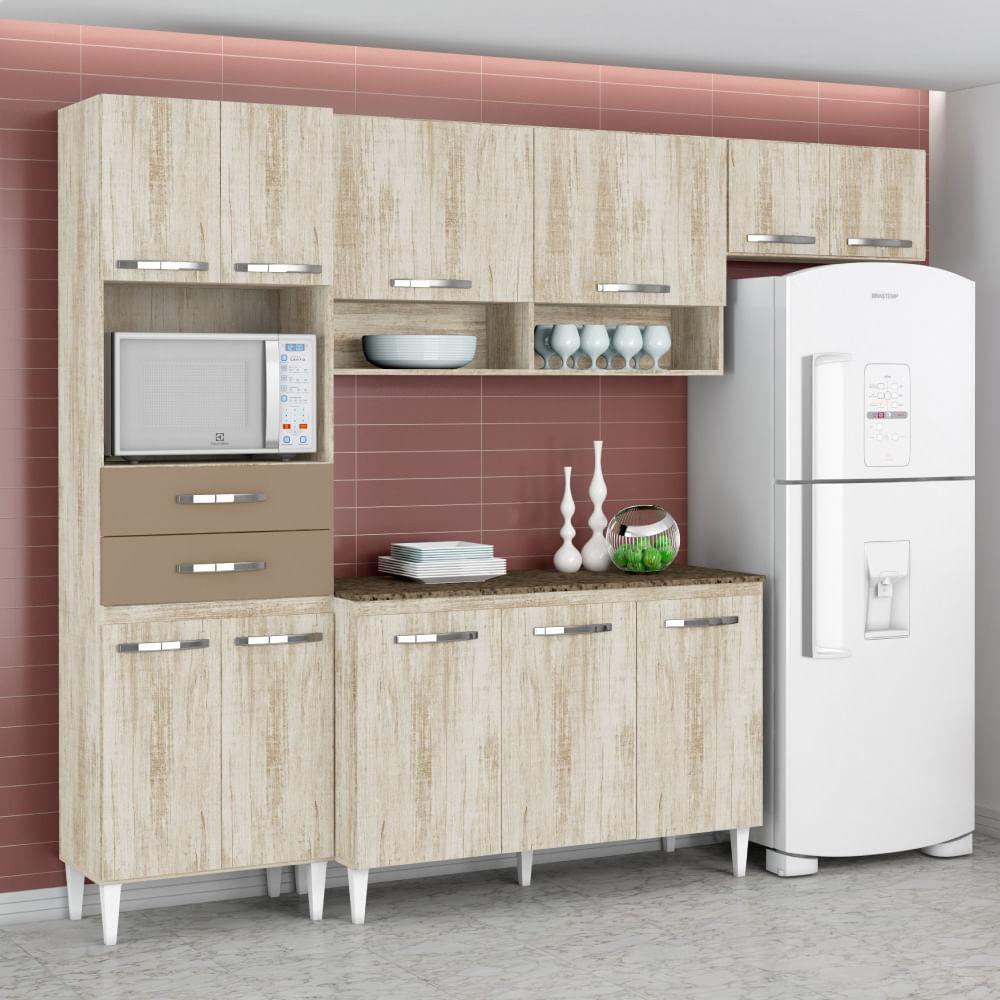 Cozinha Compacta Isabela Com Balc O Paneleiro E A Reos Essence
