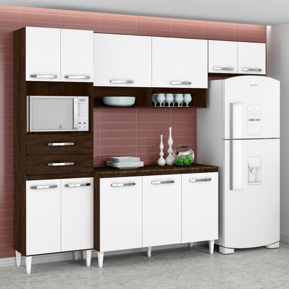 Cozinha Compacta Isabela Com Balc O Paneleiro E A Reos Ravello