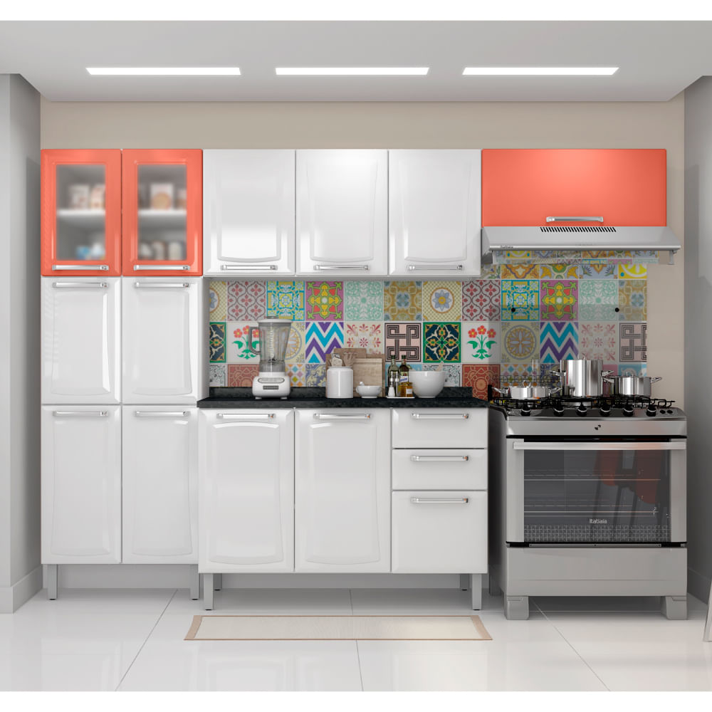 Cozinha Compacta Tarsila Paneleiro A Reos E Balc O Em A O Itatiaia
