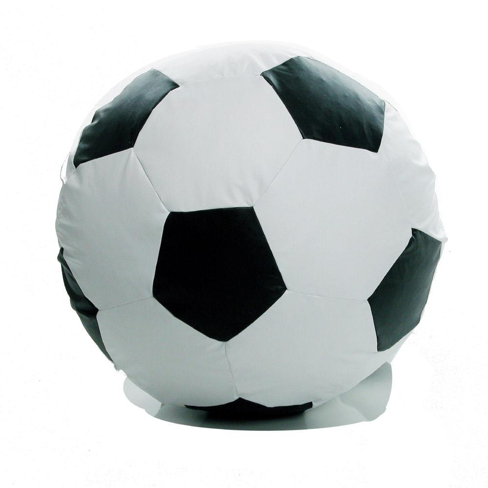 Puff Bola de Futebol Infantil - Branco  Preto - CasaTema e60521569d7b3