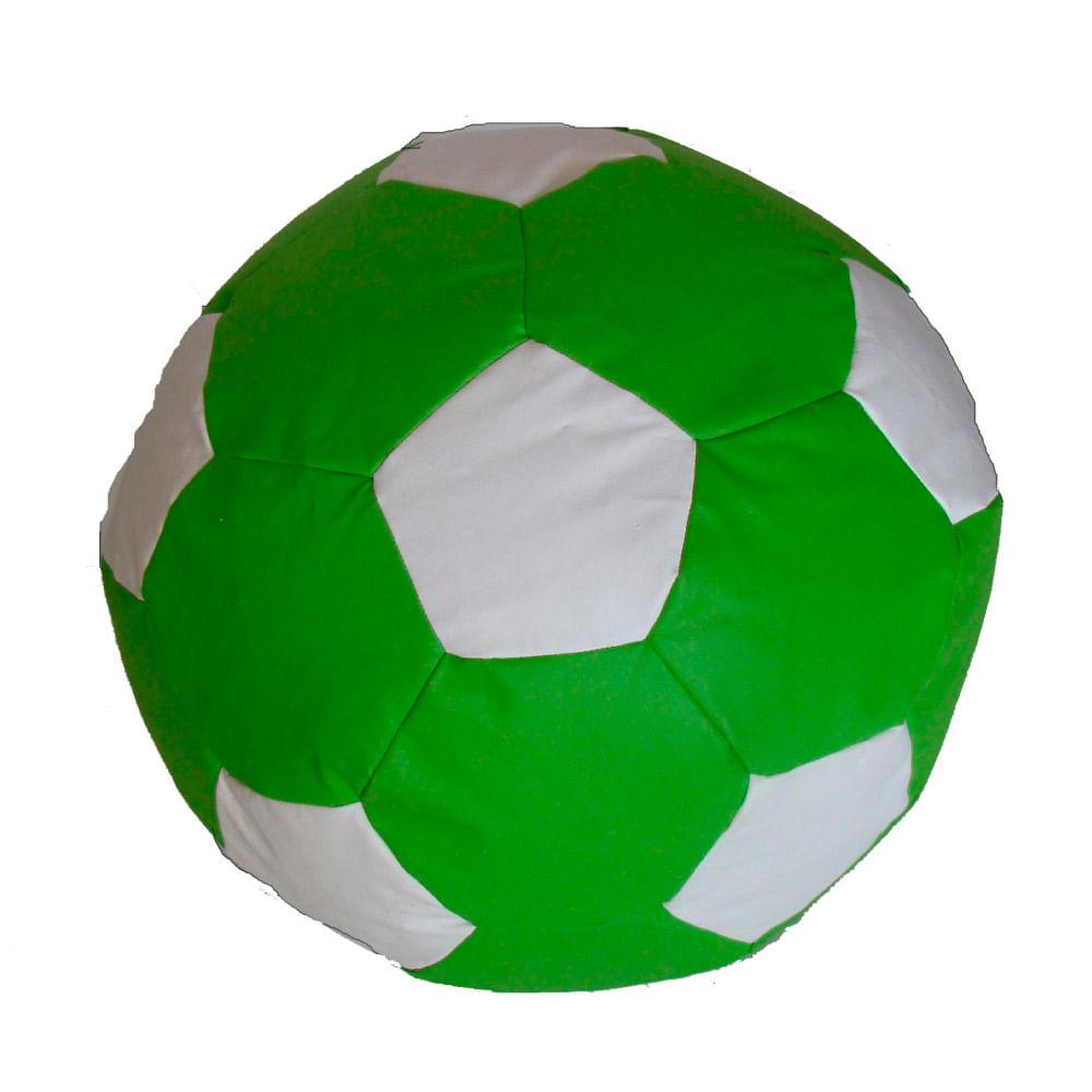 Puff Bola de Futebol Infantil - Verde  Branco - CasaTema 4498777273cb4