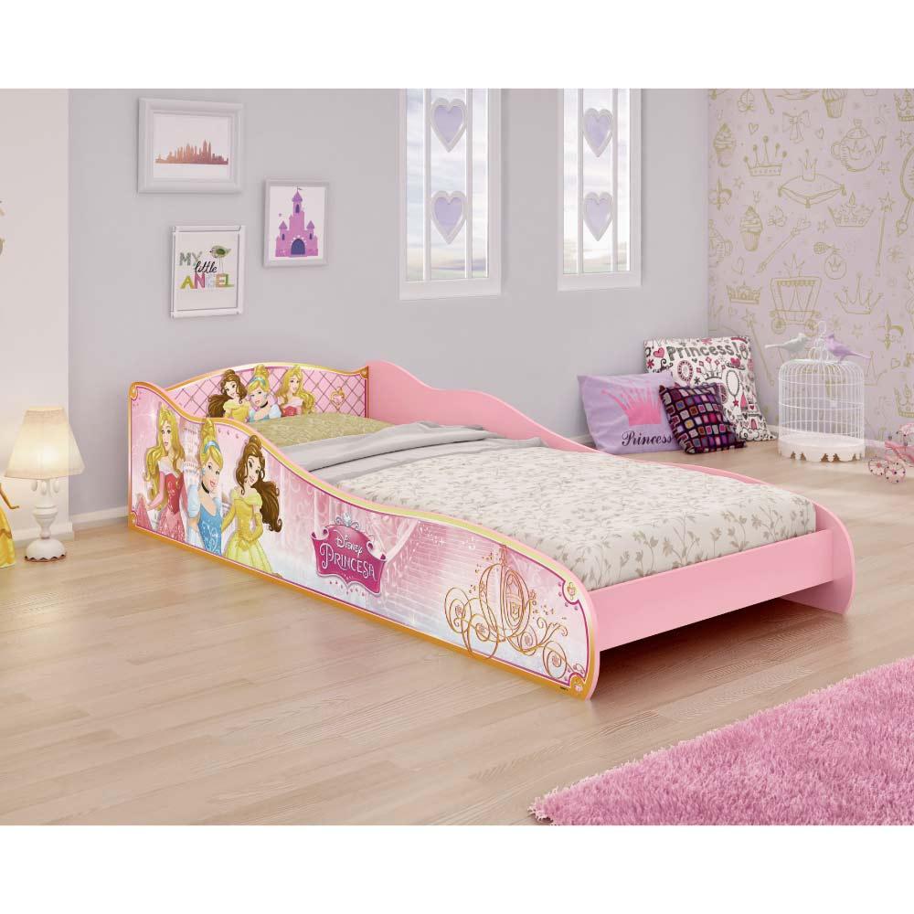 252bfcf2dc Mini Cama Infantil Princesas Disney Rosa - Pura Magia - CasaTema