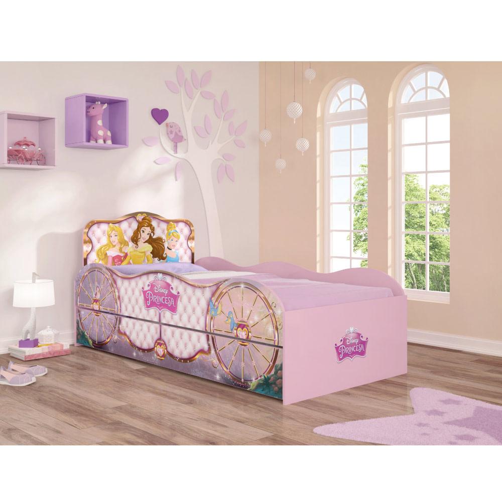037e6ced2e Bicama Infantil Princesas Disney Fun Rosa - Pura Magia - CasaTema