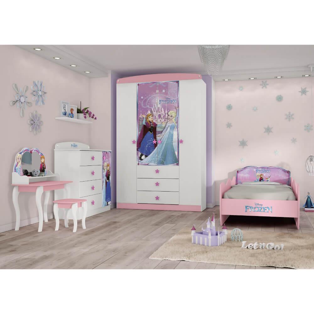 35be6a1582 Quarto Infantil Completo Frozen Disney Star - Pura Magia - CasaTema