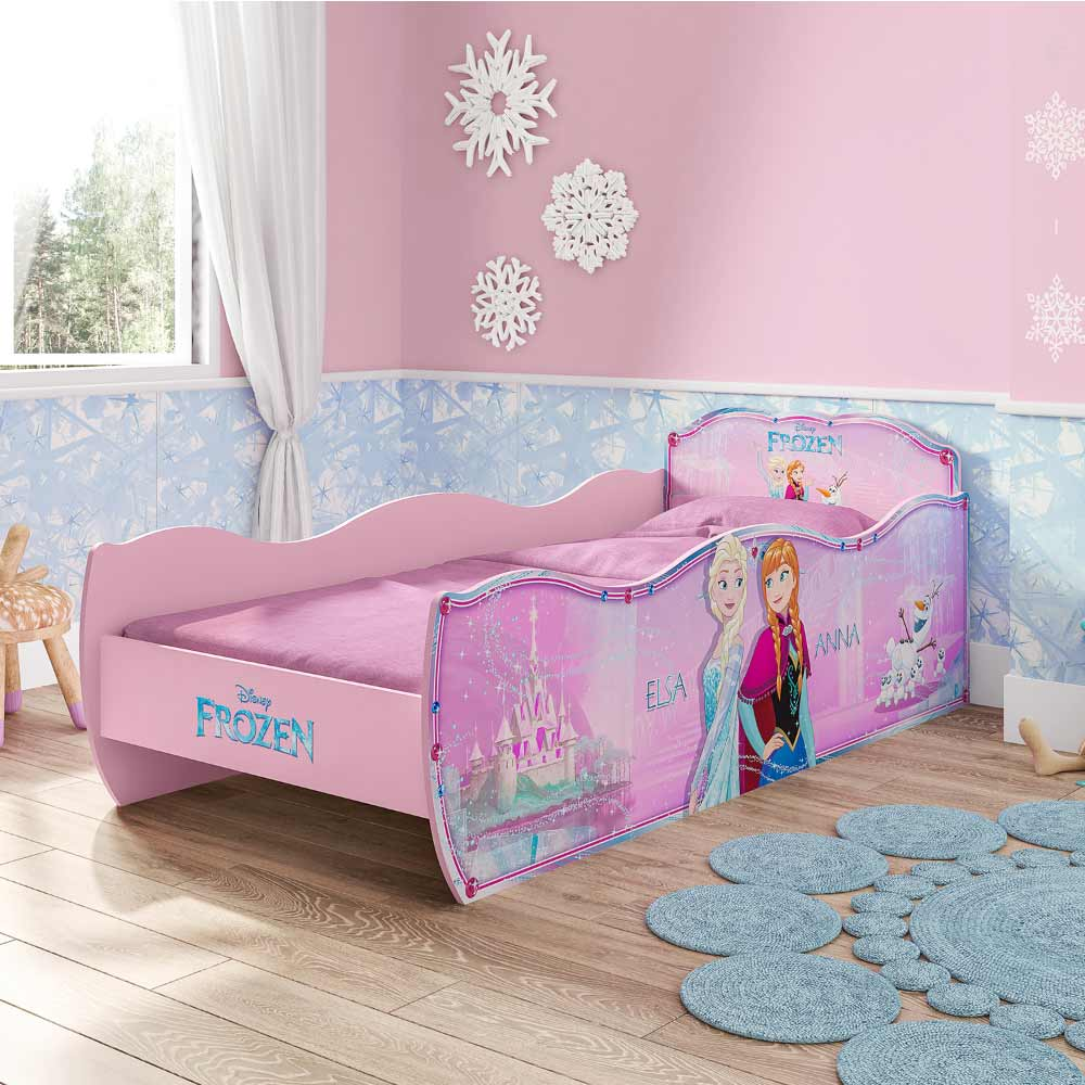 48abffc44b Cama Infantil Frozen Disney Star Rosa - Pura Magia - CasaTema