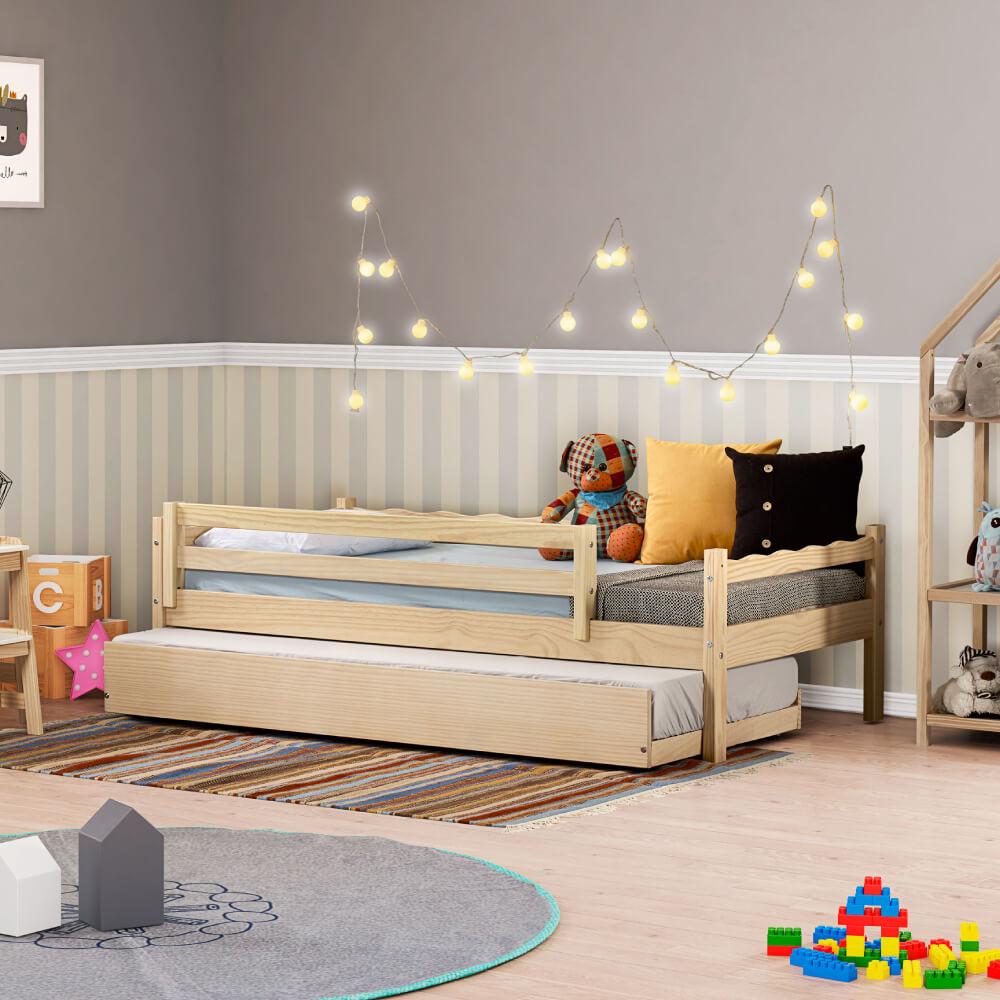 Bicama Infantil Reversível com Grade de Proteção Natural - Casatema