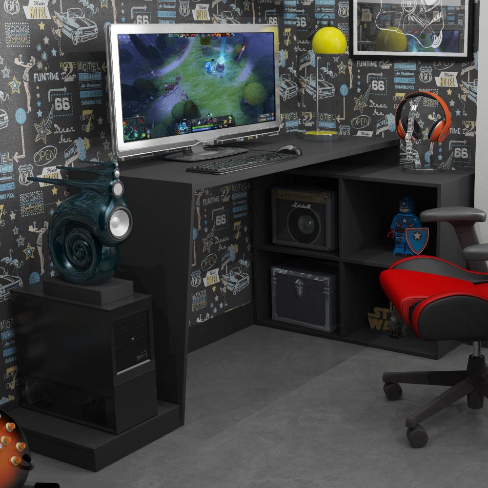 Mesa Escrivaninha Gamer 3 Prateleiras