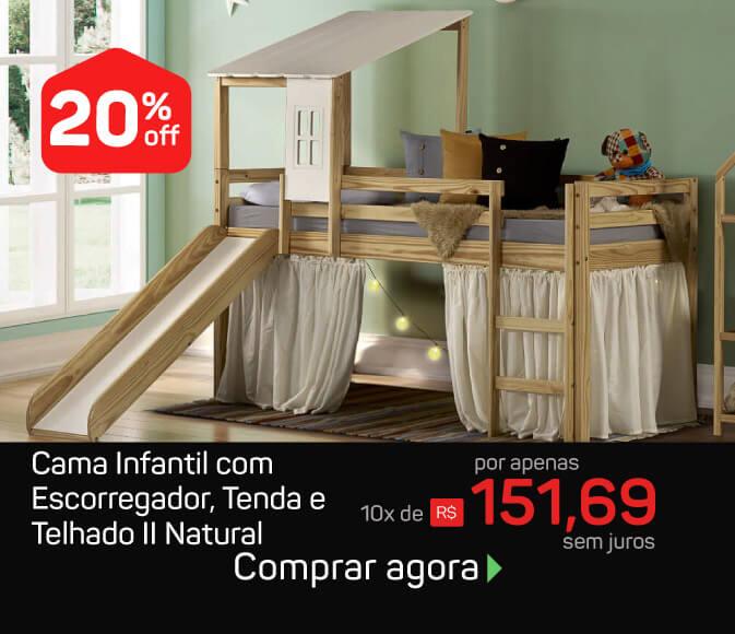 Mobile cama com escorregador