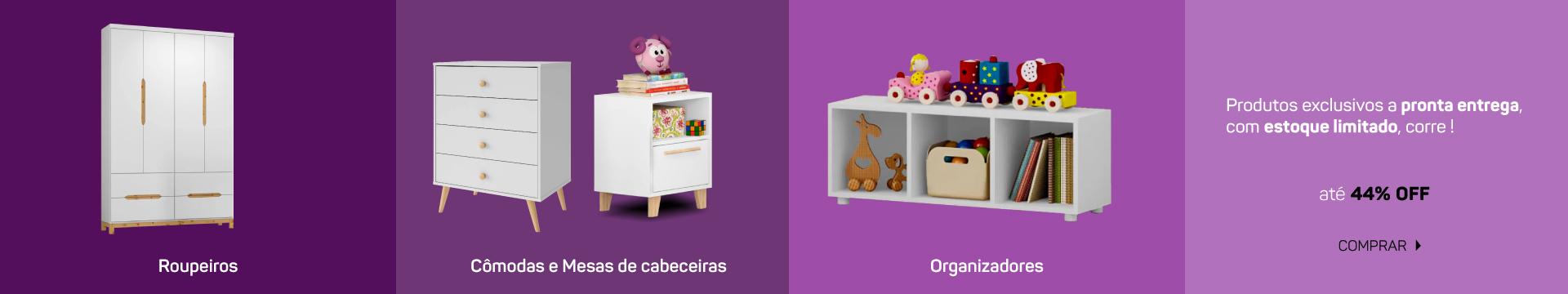 INFANTIL - roupeiros, comodas e complementos