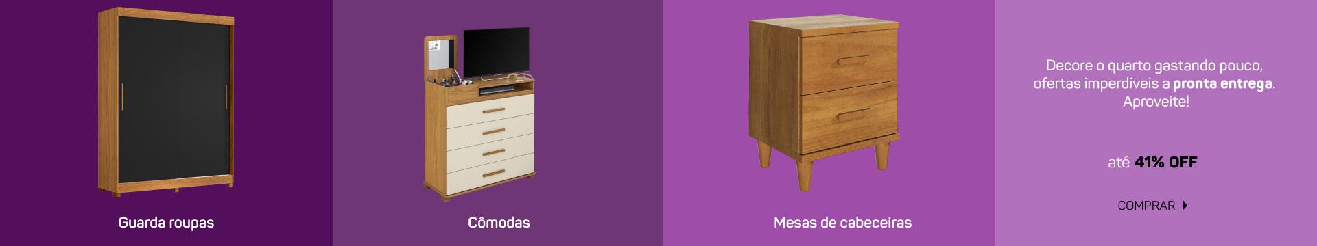 JUVENIL - Guarda roupas, comodas e mesa de cabeceira desktop