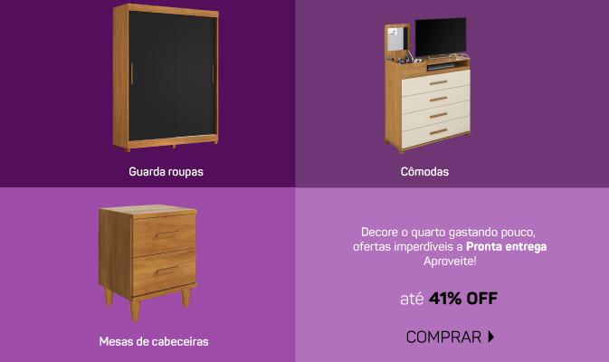 JUVENIL - Guarda roupas, comodas e mesa de cabeceira mobile